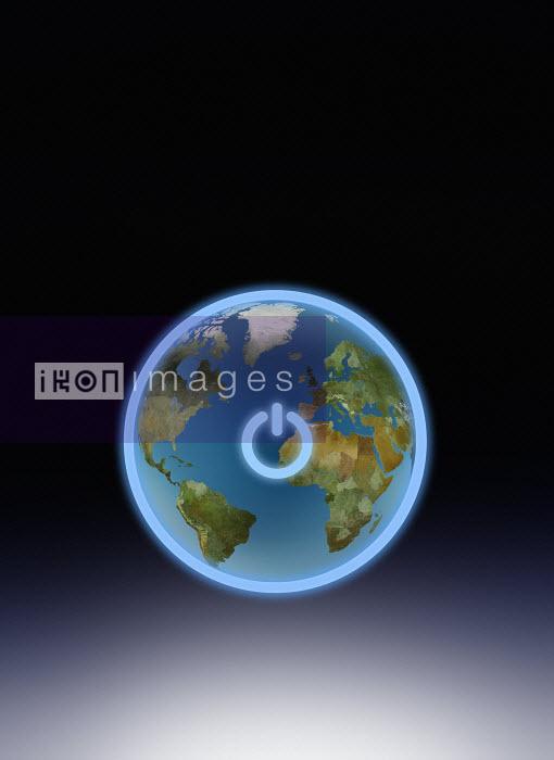 Power button switch around globe - Power button switch around globe - Derek Bacon