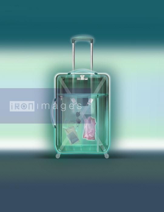 X-ray of wheeled suitcase - X-ray of wheeled suitcase - Derek Bacon