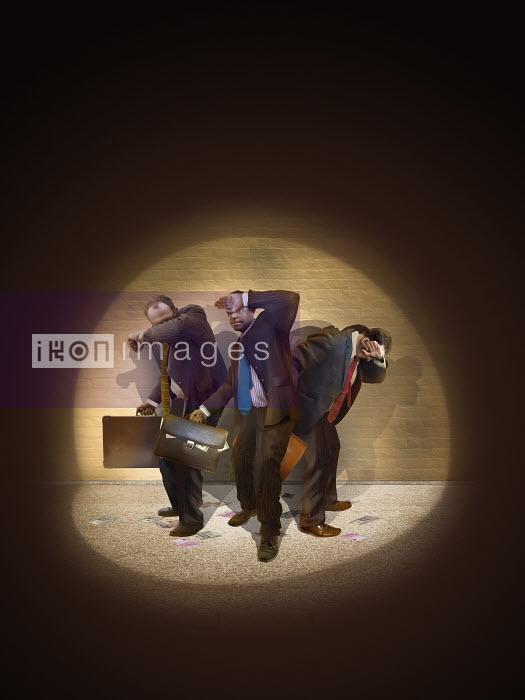 Businessmen caught in spotlight stealing money - Derek Bacon