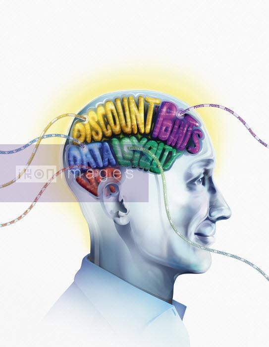 Happy man with brain wired to discount bargains - Derek Bacon
