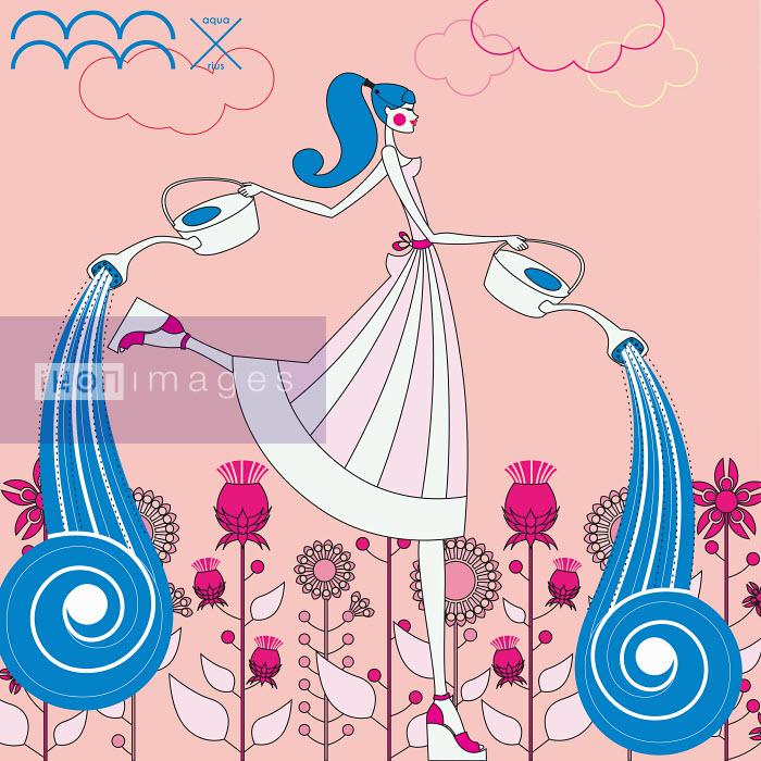 Fashion model as aquarius zodiac sign - Yordanka Poleganova