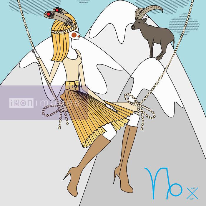 Fashion model as capricorn zodiac sign - Yordanka Poleganova