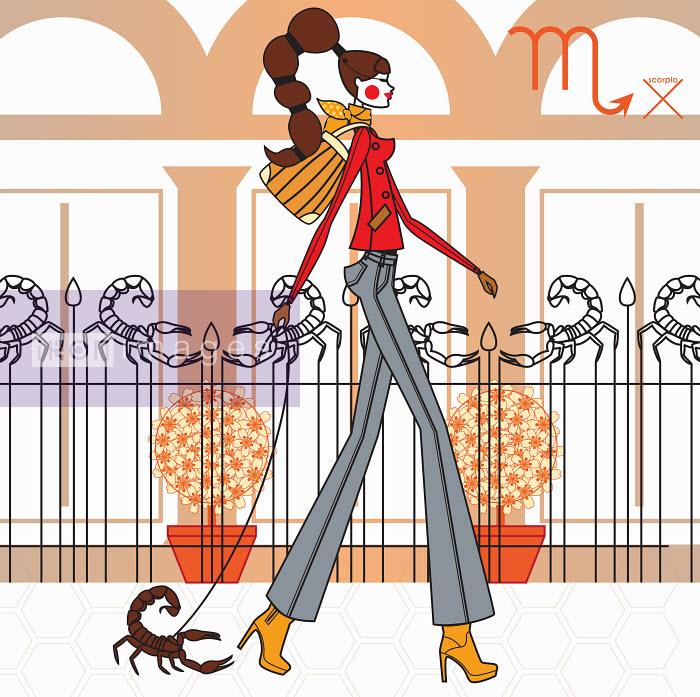 Fashion model as scorpio zodiac sign - Yordanka Poleganova