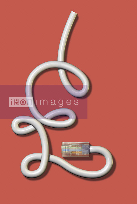 USB computer connection cable in shape of British pound sign - USB computer connection cable in shape of British pound sign - Cube
