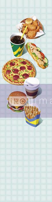 Range of unhealthy fast food - Range of unhealthy fast food - Cube