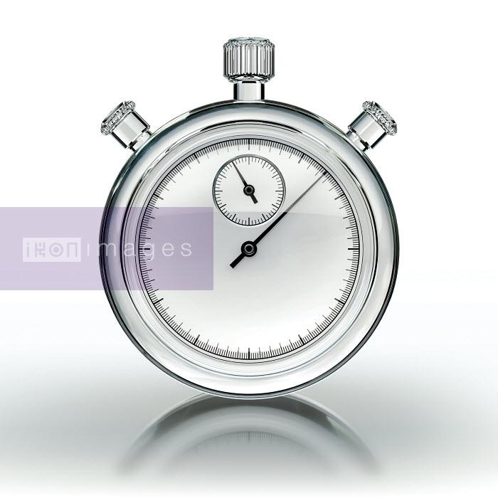 Glass stopwatch on white background - Glass stopwatch on white background - Cube