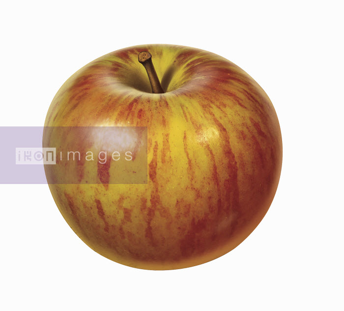 Fresh red apple on white background - Fresh red apple on white background - Cube
