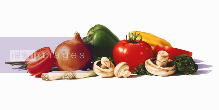 Pile of fresh vegetables - Pile of fresh vegetables - Cube