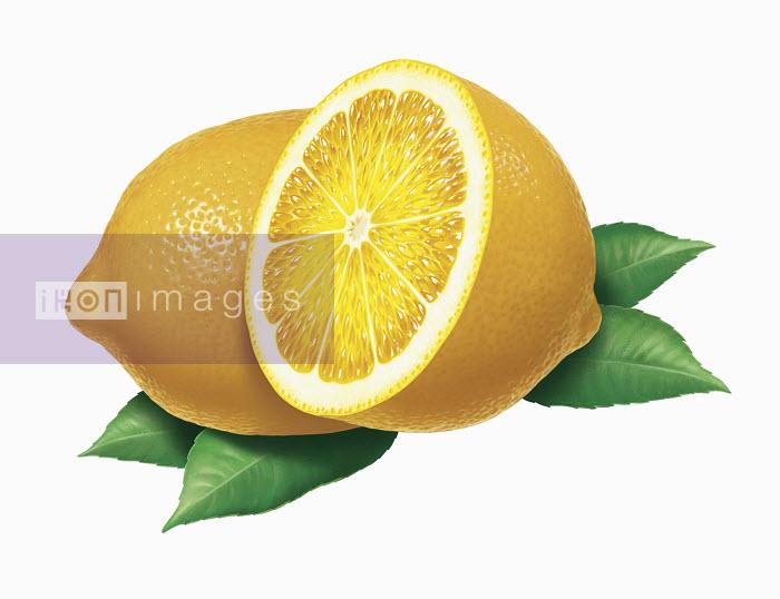 Close up of fresh lemons - Close up of fresh lemons - Cube