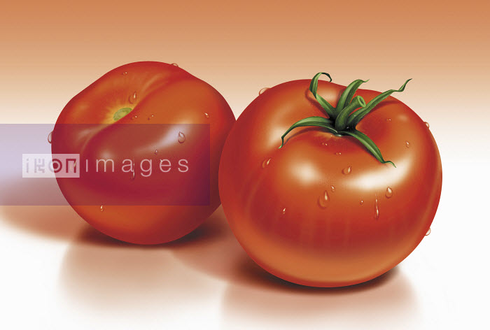 Close up of fresh tomatoes - Close up of fresh tomatoes - Cube