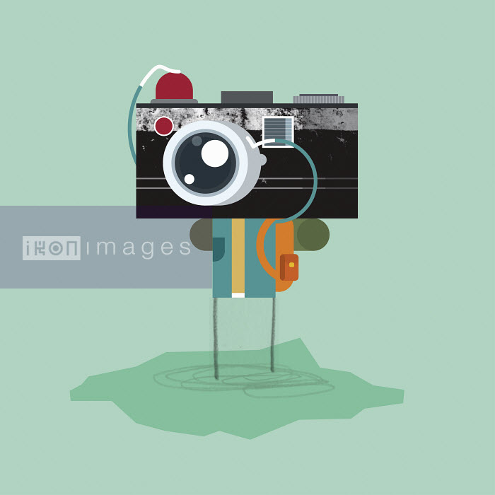 Person using old-fashioned camera - Person using old-fashioned camera - Chris Gilleard