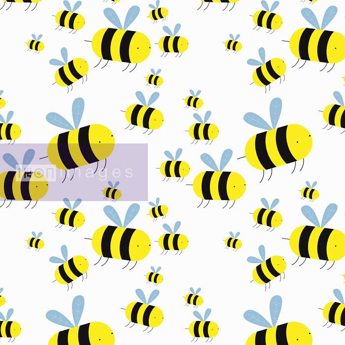 Swarm of cartoon bees - Swarm of cartoon bees - Chris Gilleard