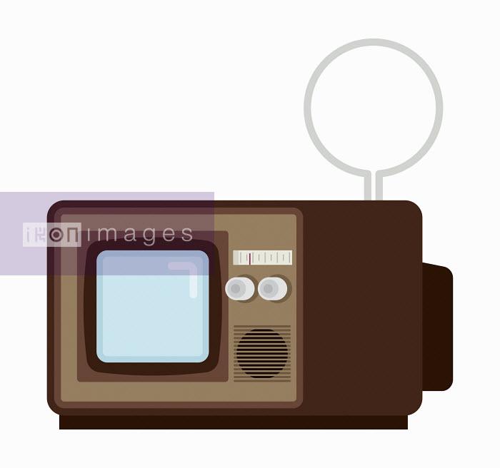 Retro television with indoor aerial - Retro television with indoor aerial - Chris Gilleard