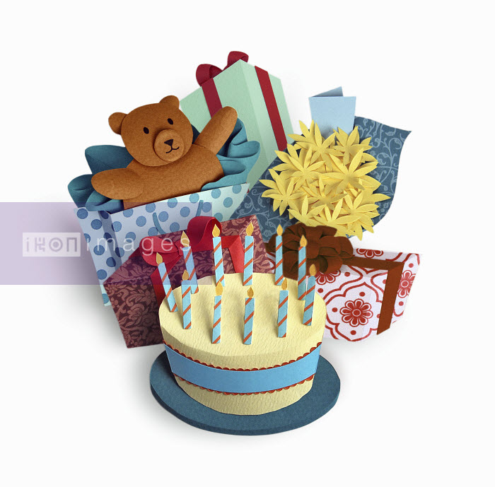 Birthday cake and presents - Birthday cake and presents - Gail Armstrong