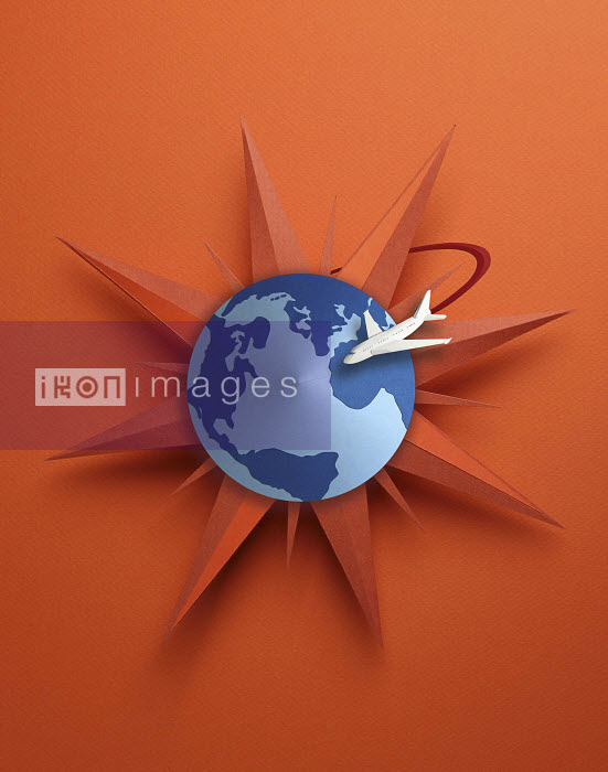 TGS logo with travel items orbitting the globe all made in 3D paper art - TGS logo with travel items orbitting the globe all made in 3D paper art - Gail Armstrong