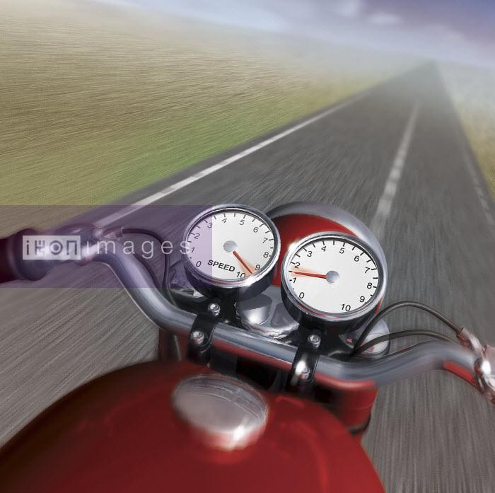 Gauges on speeding motorcycle - Gauges on speeding motorcycle - Ian Naylor