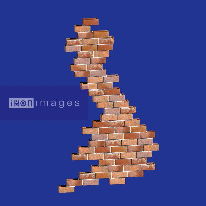 Brick wall in shape of United Kingdom - Brick wall in shape of United Kingdom - Ian Naylor