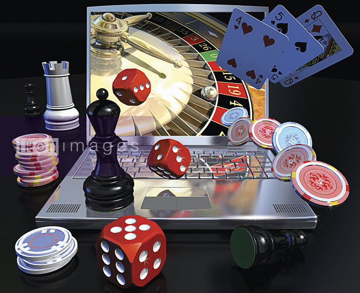 Online gambling with laptop computer - Online gambling with laptop computer - Ian Naylor