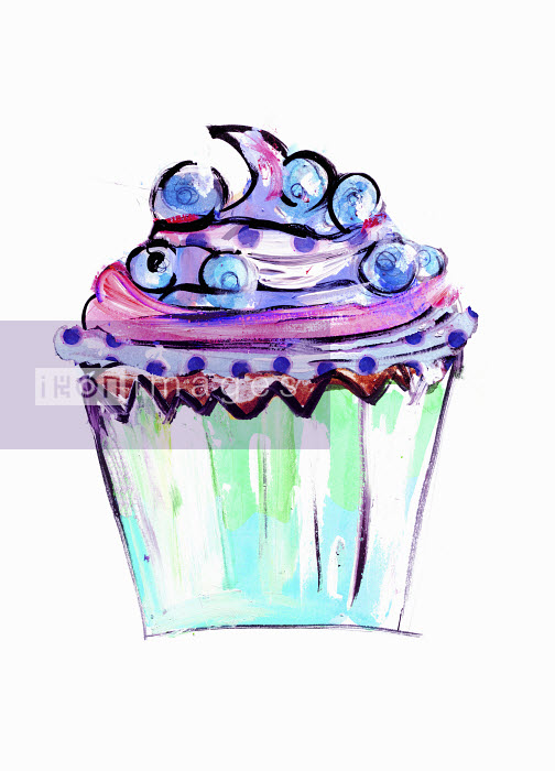 Close up of blueberry cupcake - Close up of blueberry cupcake - Lucia Emanuela Curzi