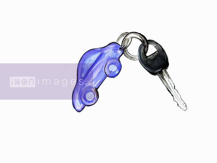 Car on car key ring - Car on car key ring - Lucia Emanuela Curzi