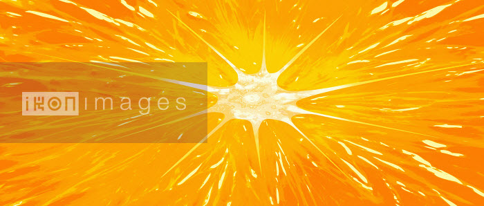 Extreme close up of half an orange - Extreme close up of half an orange - Barry Patterson