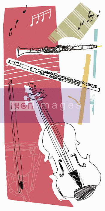 Montage of music and musical instruments - Montage of music and musical instruments - Kavel Rafferty