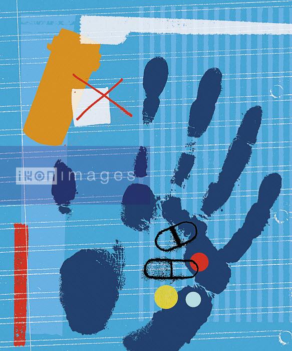 Handprint holding medicine - Handprint holding medicine - Kavel Rafferty