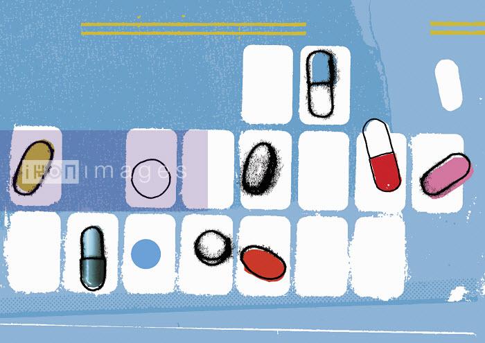 Various pills in pill organizer - Various pills in pill organizer - Kavel Rafferty