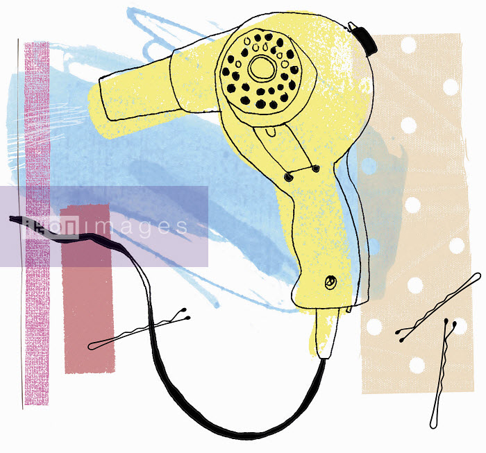 Old-fashioned hair dryer and hair pins - Old-fashioned hair dryer and hair pins - Kavel Rafferty