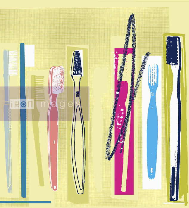 Row of different toothbrushes - Row of different toothbrushes - Kavel Rafferty