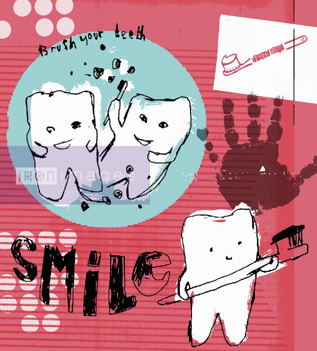 Poster encouraging children to brush their teeth - Poster encouraging children to brush their teeth - Kavel Rafferty
