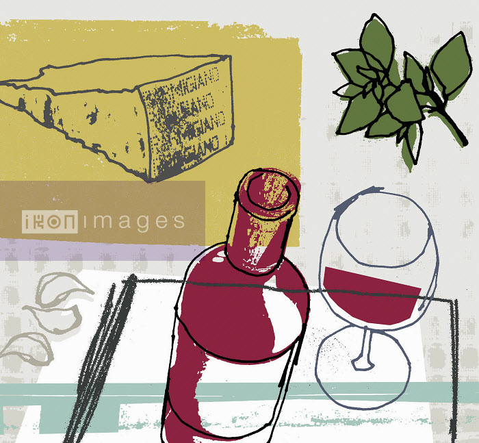 Red wine, slice of parmesan cheese, garlic and herbs - Red wine, slice of parmesan cheese, garlic and herbs - Kavel Rafferty