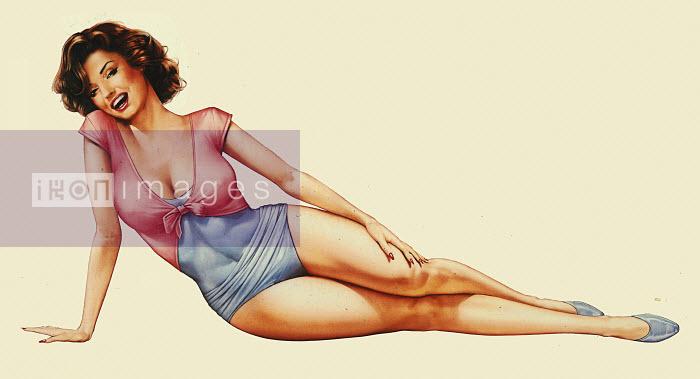 Retro vintage pin-up girl - Retro vintage pin-up girl - Syd Brak