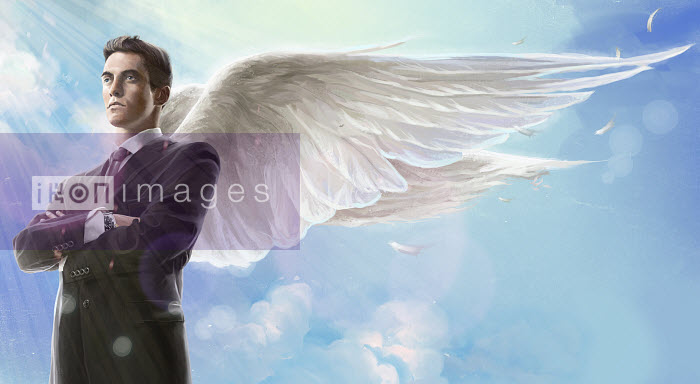 Businessman with angel wings - Businessman with angel wings - Mart Klein