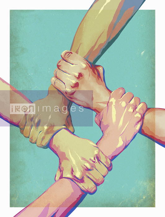 Four arms interlocked in unity - Four arms interlocked in unity - Mart Klein