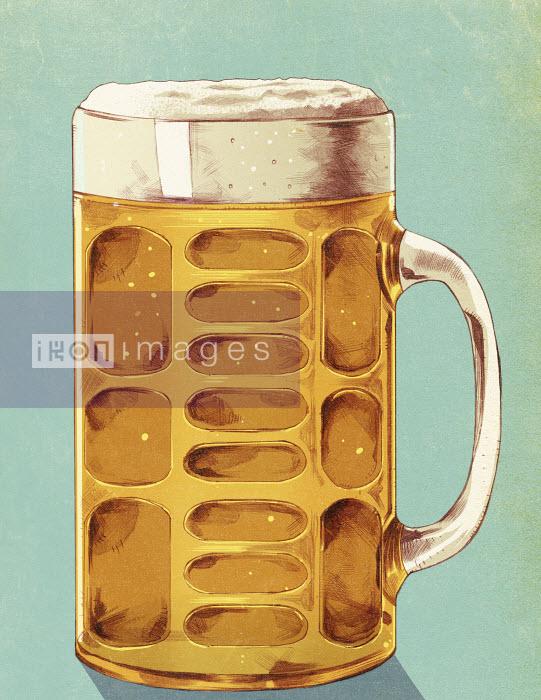 Beer glass with lager - Beer glass with lager - Mart Klein
