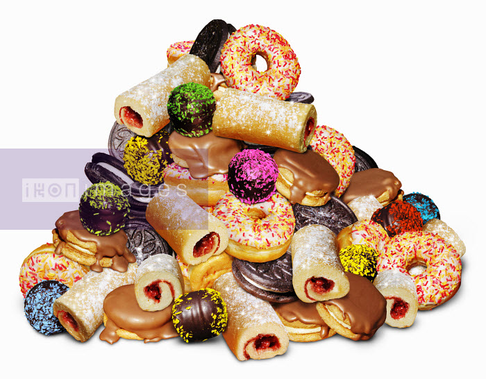 Pile of unhealthy sugary cakes - Pile of unhealthy sugary cakes - Steiner Lund