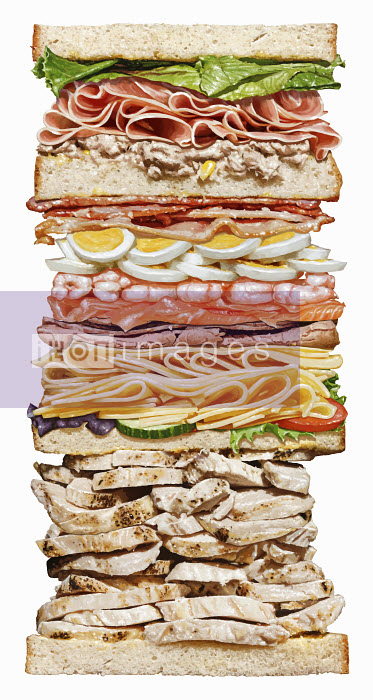 Huge sandwich with lots of layers - Huge sandwich with lots of layers - Steiner Lund