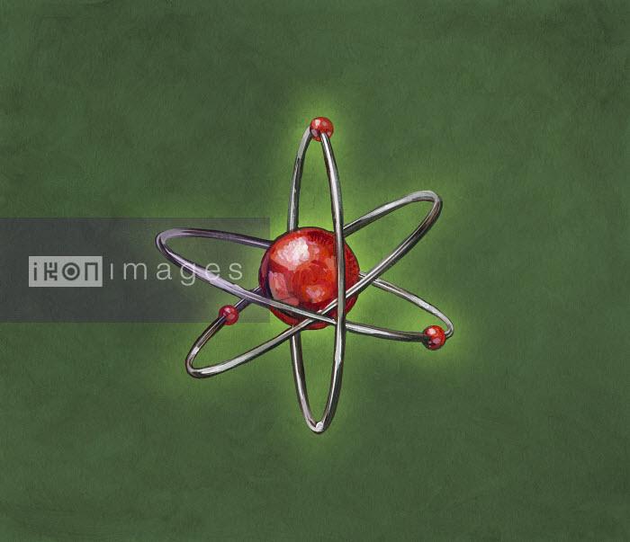 Atom symbol with orbiting electrons - Atom symbol with orbiting electrons - Sharif Tarabay