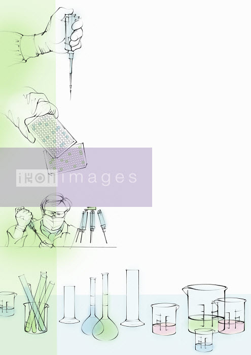 Montage of science laboratory research - Montage of science laboratory research - Juliet Percival
