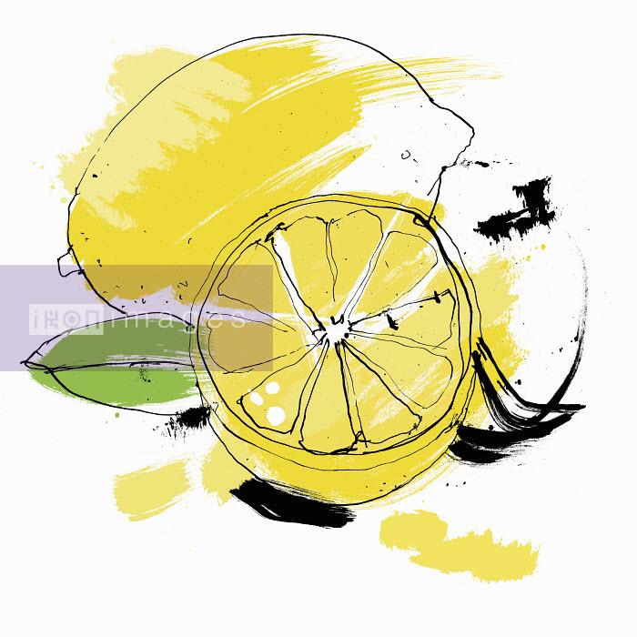 Whole and cut lemon - Whole and cut lemon - Ben Tallon