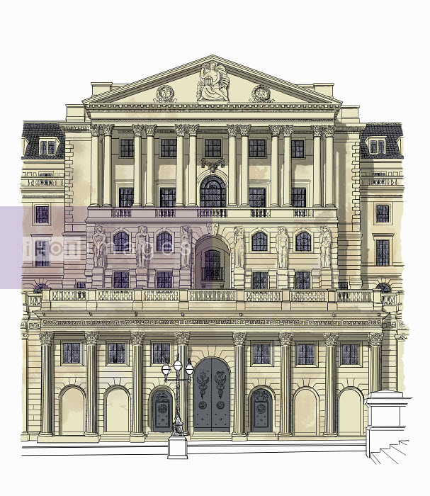 Illustration of the Bank of England - Illustration of the Bank of England - Andrew Pinder