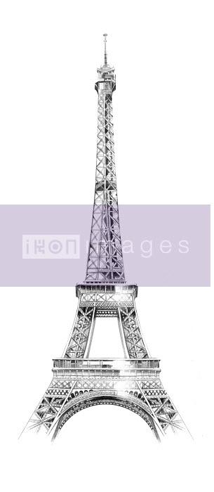 Drawing of the Eiffel Tower, Paris - Natalia Sanabria