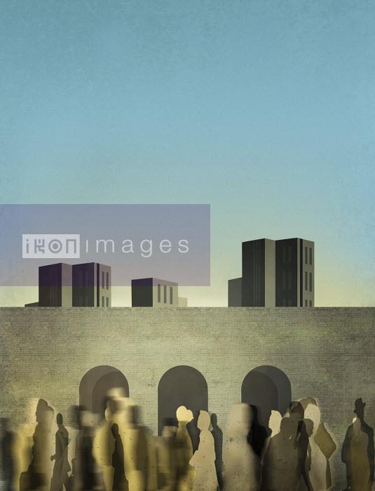 People walking in urban setting - People walking in urban setting - Metropolis