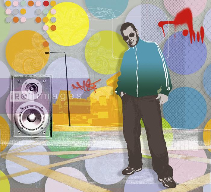 Matt Herring - Man with music collage in background