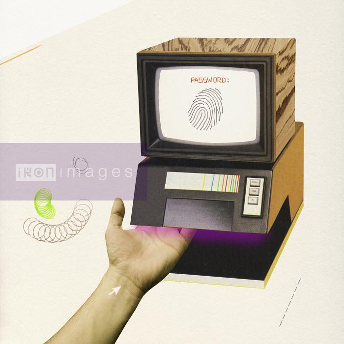 Valero Doval - Hand using fingerprint scanner