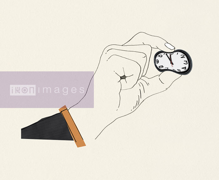 Valero Doval - Businessman's hand squeezing clock