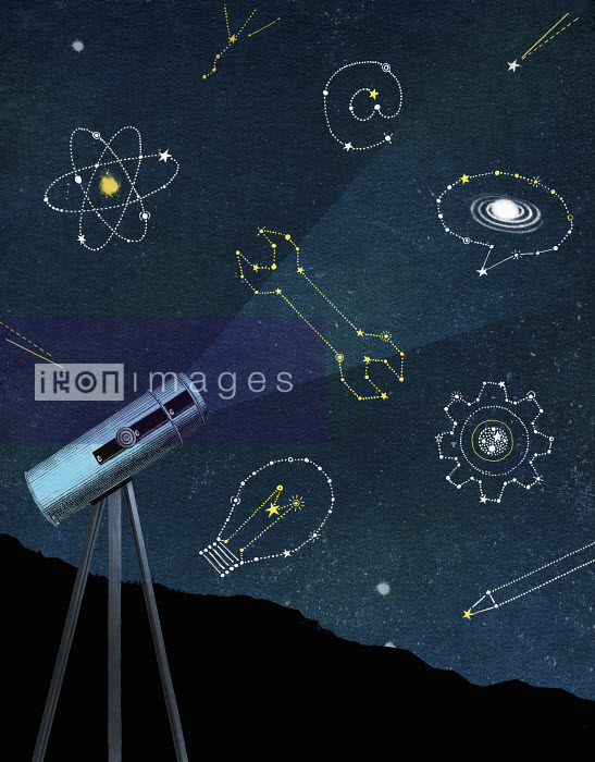 Valero Doval - Telescope looking at star constellations for science and creativity