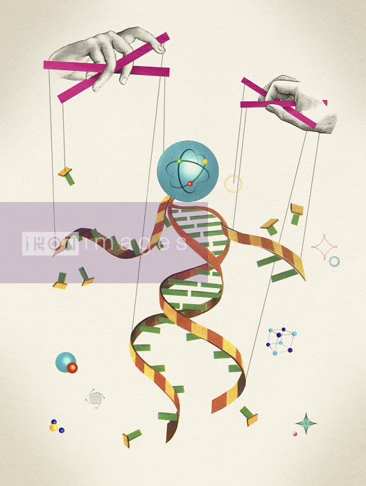 Puppeteer controlling DNA marionette - Puppeteer controlling DNA marionette - Valero Doval