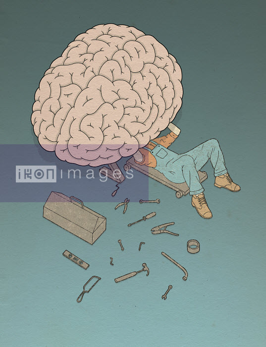 Robbie Porter - Mechanic working on human brain